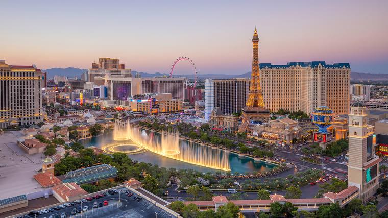 Spelhuvudstaden Las Vegas
